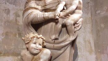 La escultura de la Virgen con el Niño y San Juanito. Catedral de Zamora